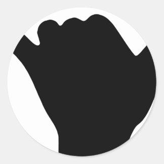 Shaka Hand Design Classic Round Sticker