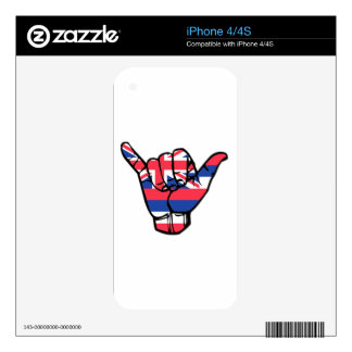 Shaka Hawaii Flag Decals For The iPhone 4S