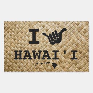 Shaka para Hawaii Pegatina Rectangular