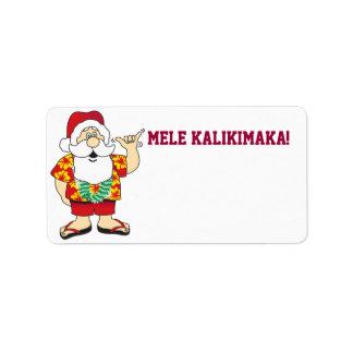 shaka santa ~ label