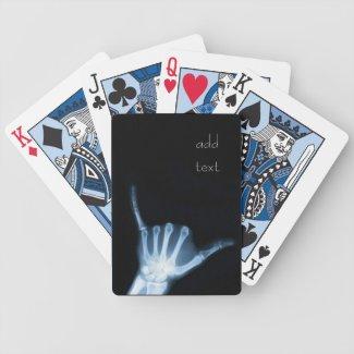 Shaka Sign X-Ray (Hang Loose) Bicycle Playing Cards