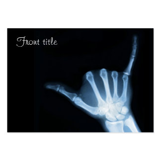 Shaka Sign X-Ray (Hang Loose) Large Business Cards (Pack Of 100)