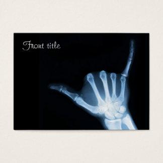 Shaka Sign X-Ray (Hang Loose) Business Card