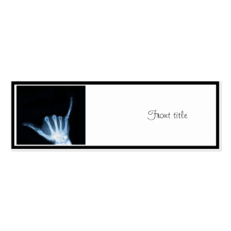 Shaka Sign X-Ray (Hang Loose) Double-Sided Mini Business Cards (Pack Of 20)