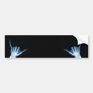 Shaka Sign X-Ray (Hang Loose) Car Bumper Sticker