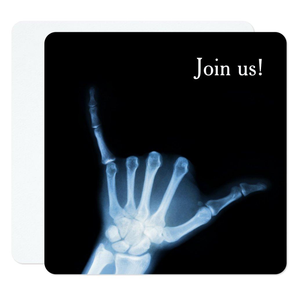 Shaka Sign X-Ray (Hang Loose) Invitation