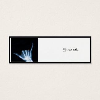 Shaka Sign X-Ray (Hang Loose) Mini Business Card