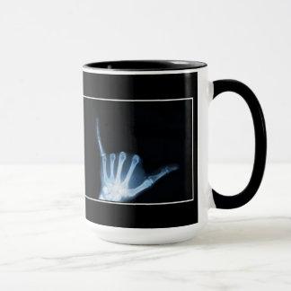 Shaka Sign X-Ray (Hang Loose) Ringer Mug