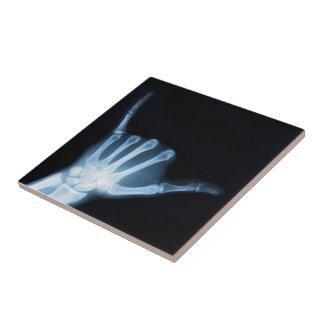Shaka Sign X-Ray (Hang Loose) Tile