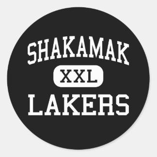 Shakamak - Lakers - High - Jasonville Indiana Classic Round Sticker