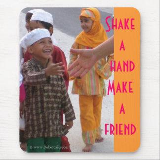 Shake a hand , Make a friend Mouse Pad