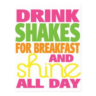 Shake and Shine Postcard