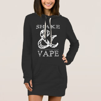 Shake And Vape Womans Hoodie Dress