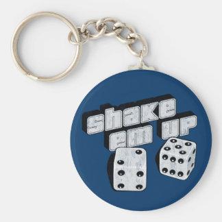 shake em up - dice basic round button keychain