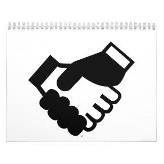 Shake hands calendar
