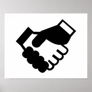 Shake hands poster