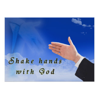 Shake Hands With God Poster