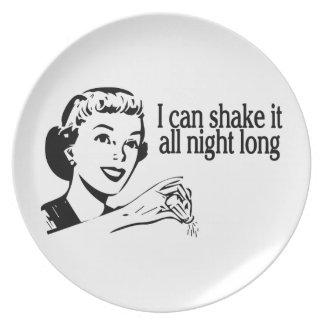 Shake It All Night Long Retro Melamine Plate
