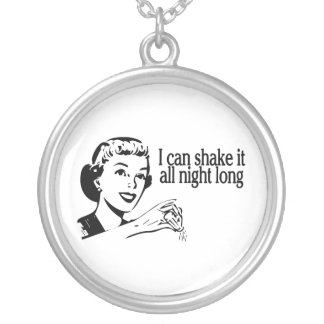 Shake It All Night Long Retro Silver Plated Necklace
