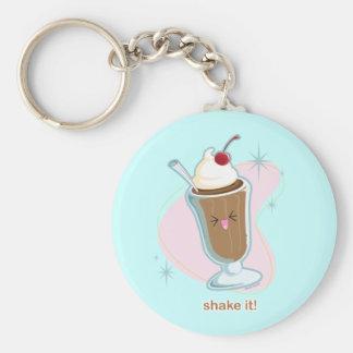 Shake It! Basic Round Button Keychain