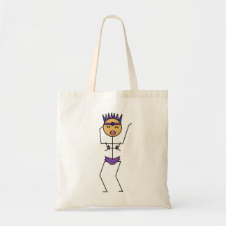 shake it carnaval stick figure tote bags