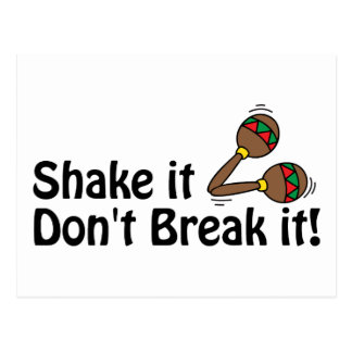 Shake it, Don't Break it. Postcard