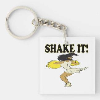 Shake It Double-Sided Square Acrylic Keychain