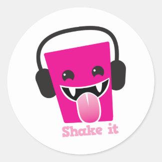 Shake it kawaii DJ Classic Round Sticker