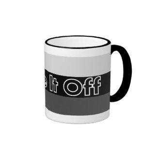 Shake It Off Striped Mug - Black