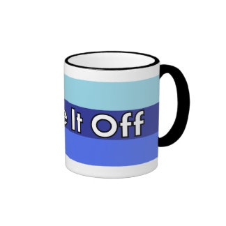 Shake It Off Striped Mug - Blue