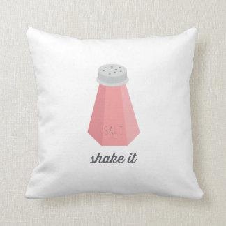 Shake It | Pink Salt Shaker Pillow