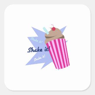 Shake It Square Stickers