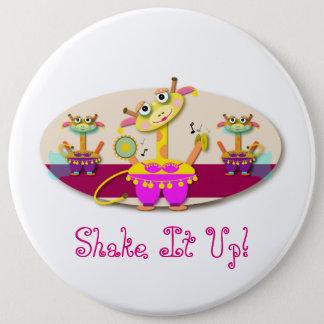 Shake It Up Bellydancing Giraffes Button