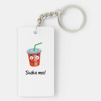 Shake me! Double-Sided rectangular acrylic keychain
