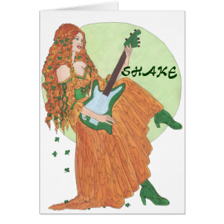 Shake My Shamrocks! Card