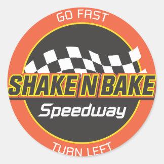 Shake n Bake Speedway decal Classic Round Sticker