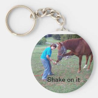 Shake On It Basic Round Button Keychain