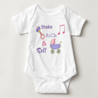 Shake Rattle and Roll Baby Girl's Bodysuit