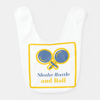 Shake rattle and roll for boys bib