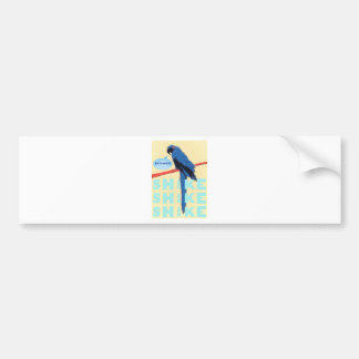 Shake Rattle and Roll Macaw Bumper Stickers