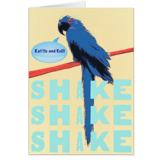 Shake Rattle and Roll Macaw Card