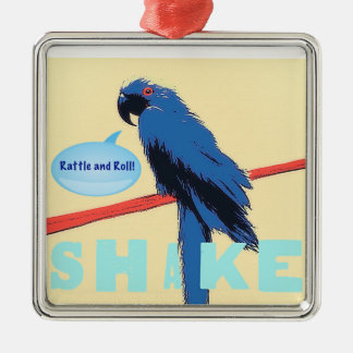 Shake Rattle and Roll Macaw Metal Ornament