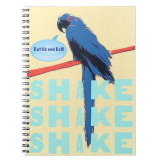 Shake Rattle and Roll Macaw Spiral Note Books