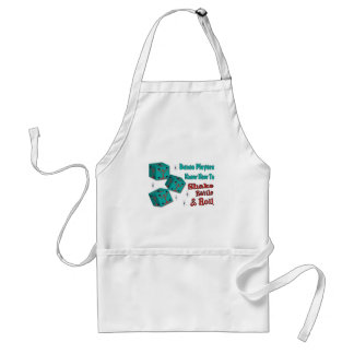 Shake, Rattle and Roll Martinit Dice Bunco Design Adult Apron