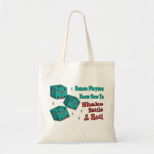 Shake, Rattle and Roll Martinit Dice Bunco Design Canvas Bags