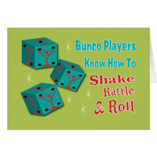 Shake, Rattle and Roll Martinit Dice Bunco Design Card