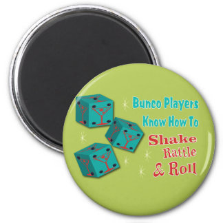 Shake, Rattle and Roll Martinit Dice Bunco Design Magnet