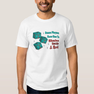 Shake, Rattle and Roll Martinit Dice Bunco Design T-shirt