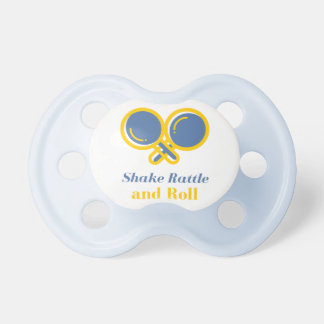 Shake rattle and roll pacifier