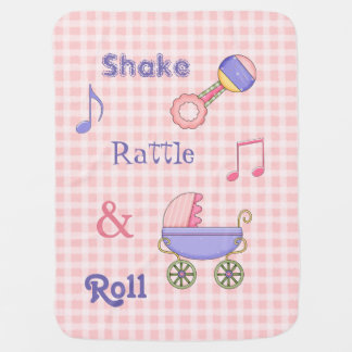 Shake, Rattle, and Roll Pink Baby Blanket
